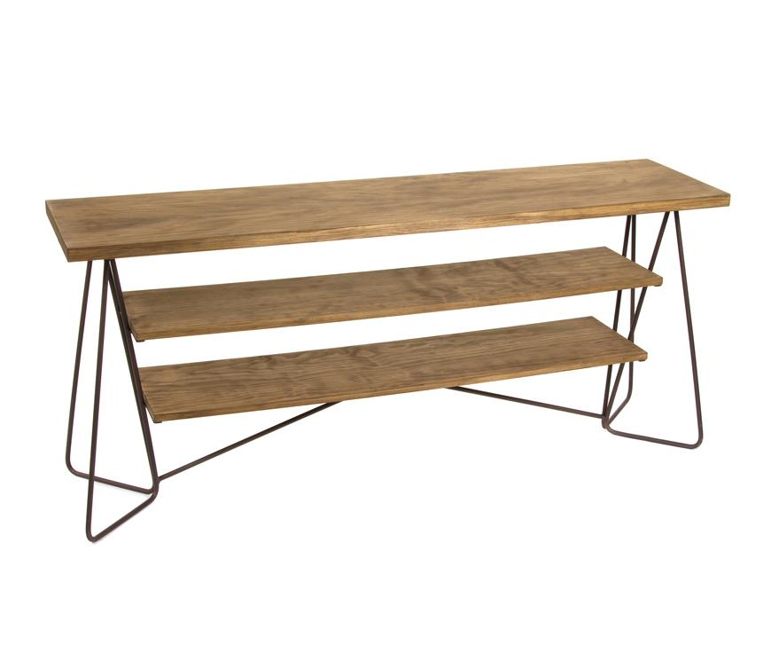 51520 consola industrial florence 160 madera y metal - Consola industrial ...