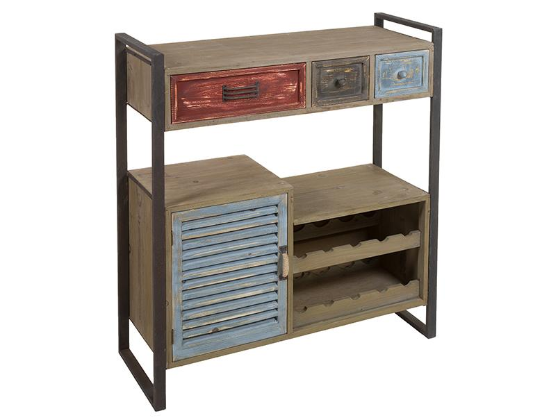 52062 consola mueble botellero industrial vintage list 89 for Muebles diseno industrial vintage