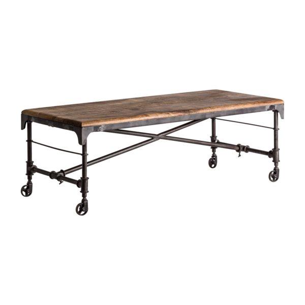 23961 mesa de centro estilo industrial 140 madera y hierro for Mesa de centro de metal industrial