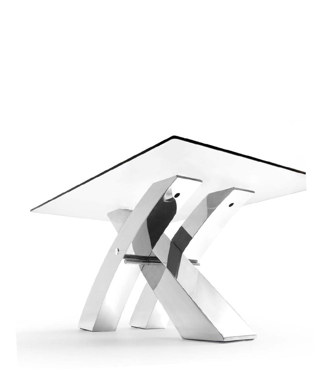 Mesa de comedor logan de dise o moderno 180 cristal y for Mesa comedor diseno cristal