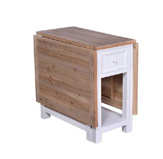 Mesa comedor plegable madera y blanco – PRIMERA AVENIDA