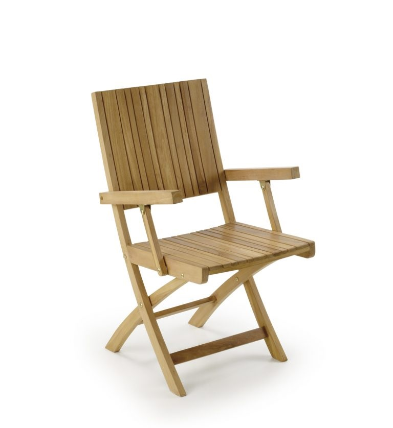 sillas de jardín plegable con reposabrazos